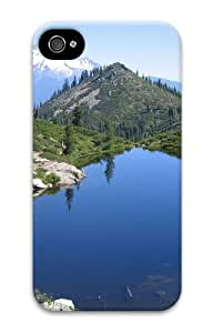 iphone 4 fashion cases Landscapes mountain lake 3 3D Case for Apple iPhone 4/4S
