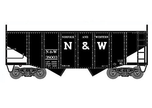 Bowser BOW41404 HO 55-Ton Fishbelly Hopper, N&W/Peaked End #38003 ()