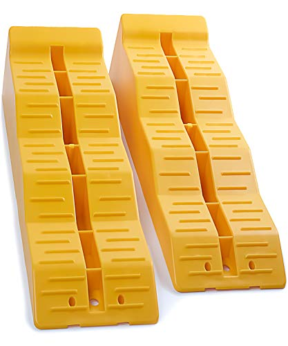 OxGord RV Camper Leveler Ramps (Pack of 2) Leveling Blocks for Travel Trailer Levelers for RVS Campers