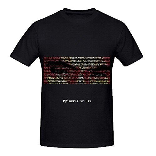 Nas Greatest Hits Jazz Men Crew Neck Cool Shirts - Crew Shop Ro