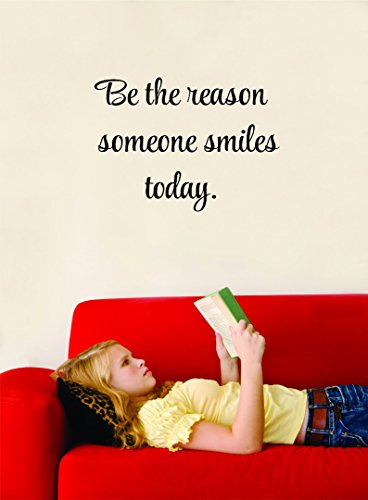 Be The Reason Someone Smiles Today. Motivational Inspirational Quote Vinyl Wall Decal Sale - 22 Colors Available Size: 14 Inches X 18 Inches