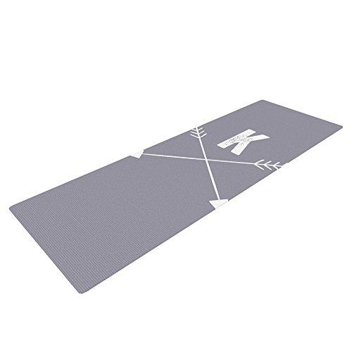 KESS InHouse KESS Original Gray Arrow Monogram Yoga Mat KIH202KYM01 72 X 24 72 X 24 KESS Global Inc