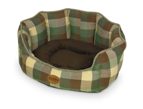Nobby Lara Comfort Bed, 45 X 40 X 19 Cm, Green: Amazon.co.uk: Pet Supplies