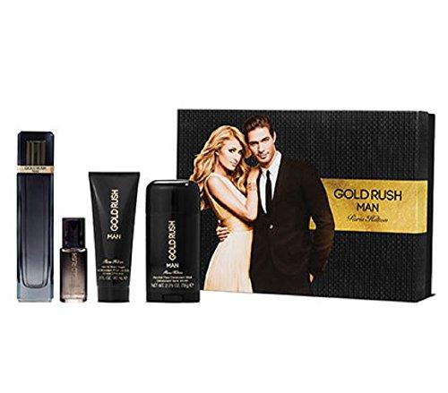 Paris Hilton Deodorant Cologne - Paris Hilton Rush Man for Men Gift Set, Gold