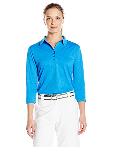 Cutter & Buck Women's Cb Drytec 3/4 Sleeve Chelan Polo, Digital Heather, L