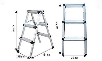 GYX Taburete, escalera plegable antideslizante de aleación de ...
