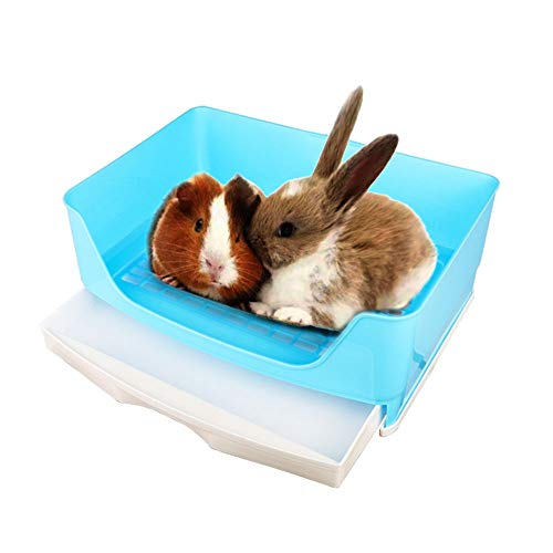 Oncpcare Super Large Pet Litter Box, Small Animals Restroom Rabbit Toilet Simple Rabbit Litter Bedding Guinea Pig…