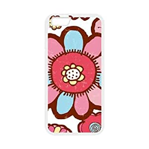 Flower Hill iPhone 6 4.7 Inch Cell Phone Case White Exquisite gift (SA_628412)