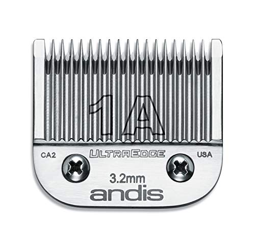 (Andis Carbon-Infused Steel UltraEdge Clipper Blade, Size-1A, 1/8-Inch Cut Length (64205) )