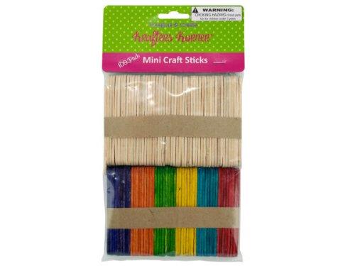 Bulk Buys CC536 Multi-colored mini craft sticks Case of 25 by bulk buys