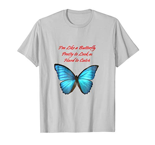 Pink Butterfly Hard Graphic - Like a butterfly pretty to look at hard to ctach