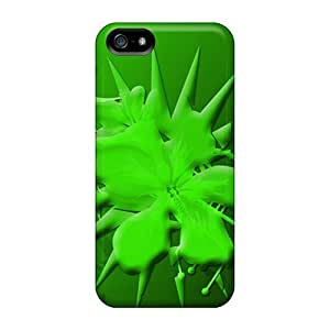 Pretty ZnL15202TAcc Iphone 5/5s Cases Covers/ Green Flower Series High Quality Cases