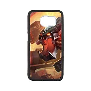 Samsung Galaxy S6 Cell Phone Case White League of Legends Battlecast Prime Cho'Gath Trzpm