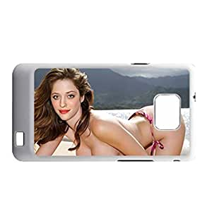 Hard Plastic Back Phone Case For Teen Girls For Galaxy S2 Printing With Kat Dennings Choose Design 2