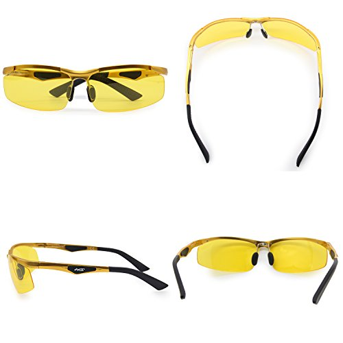 Montura Conducción Media Gafas De Aluminio Sol Para De Conducción Metal De Gafas Hombre AMZTM Magnesio Rectangulares Polarizadas Gafas Nocturna I8wYYq