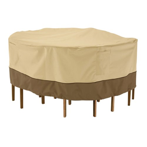 Classic Accessories Veranda Round Patio Table & Chair Set Cover, Medium ()