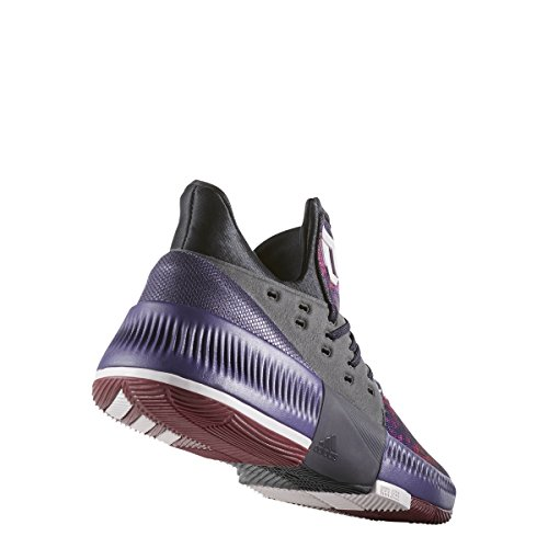 Adidas Dame 3 Shoe Para Hombre Baloncesto Core Black-ice Purple-burgundy