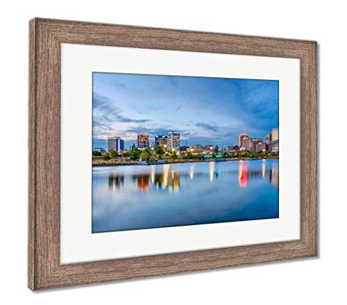 (Ashley Framed Prints Birmingham, Alabama, USA, Wall Art Home Decoration, Color, 26x30 (Frame Size), Rustic Barn Wood Frame, AG32675378)