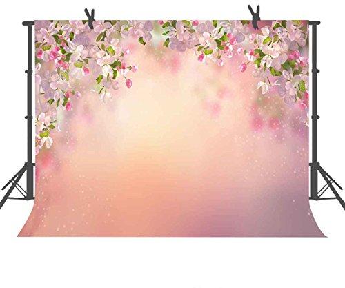 Beautiful Peach - FUERMOR Background 7x5ft Beautiful Peach Flowers Photography Backdrop Photo Studio Props Wall Murals GEFU385