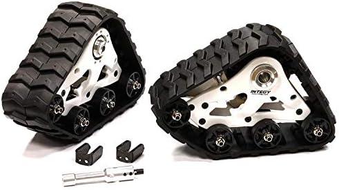 Integy RC Model Hop-ups C28588SILVER T3 Rear Snowmobile /& Sandmobile Conversion for Traxxas X-Maxx 4X4