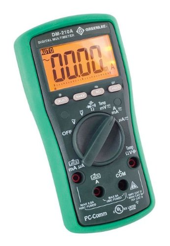 GREENLEE DM-210A Digital Multimeter With Auto and Manual ...