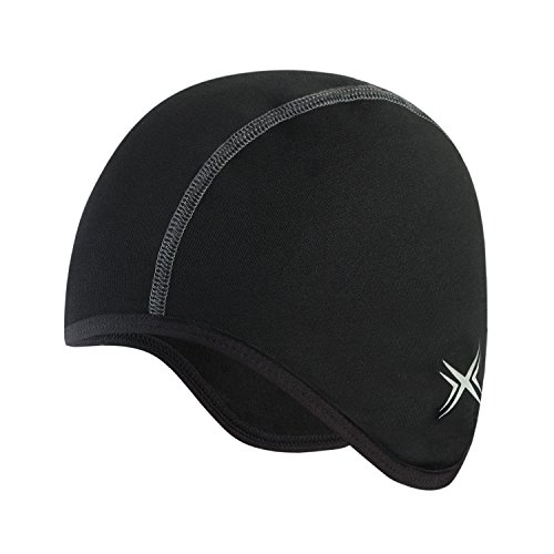 Baleaf Thermal Skull Cap Helmet Liner Black (Bicycle Cap Skull)