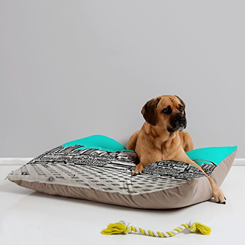 Deny Designs Bird Ave St Louis Aqua Pet Bed, 40 by 30-Inch (Louis Beds Dog)
