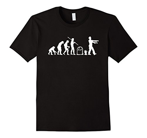 Men's Zombie Evolution Funny Zombie T-Shirts Medium Black - Good Movie Couple Costume Ideas