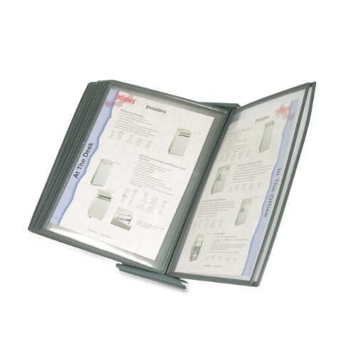 Masterview Desktop - Martin Yale MVSM10 MasterView Executive Desktop Stand, 10 Sleeves Display up To 20 Documents at a Time, Sleeves Hold 8 1/2