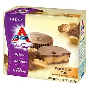 Atkins Endulge Treats, 5 pk, Peanut Butter Cups 1.2 oz (34 g))- pack of 3