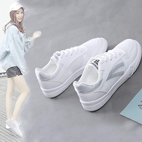 Forty Shoes Size WFCAYDHN Shoes Women Little Breathable Shoes Sports Casual White vWncaxXvz