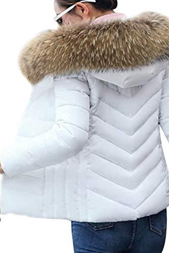 Donna Moda Mantello Giacca Trapuntata Outerwear Semplice Imbottitura Manica Invernali Fit Glamorous Bianca Cappuccio Tasche Casual Con Lunga Calda Piumino Slim Elegante Hot Cappotto Termico Autunno zzrTCEq