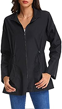 Kate Kasin Women's Lightweight Windbreaker Jacket