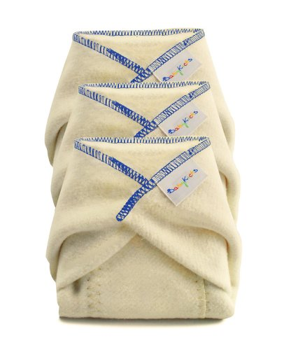BabyKicks 3 Pack Prefold Diaper, X-Large ()
