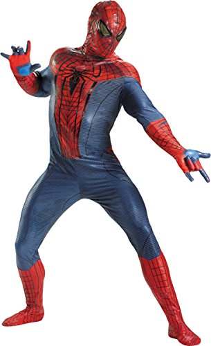 Disguise Marvel The Amazing Spider-Man Movie Adult Jumpsuit Costume, Red/Blue/Black, XX-Large (Mens Black Spiderman Costume)