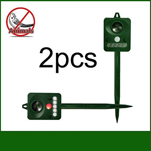 Other Signal Processors - WER Ultrasonic Animal Repeller Solar Pest Repellent Repel Bird Cat Squirrel Deer Skunk Chipmunk Rabbit and Other Unwanted Animals Away(2pcs)
