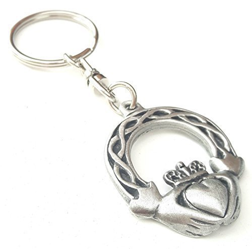Emblems-Gifts Claddagh Irish Handcrafted From English Pewter Key Ring +...