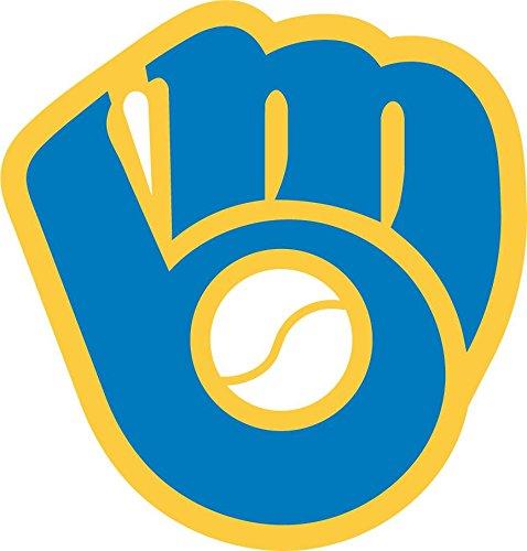 skyhighprint - Milwaukee Brewers Logo MLB Baseball Decor Vinyl Print Sticker 12'' X 12''
