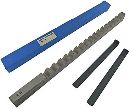 LW-Tool 1PC Keyway Broach 14mm D Push-Type Metric Size High Speed Steel Material Metalworking Cutting Tool CNC Machine with Shim