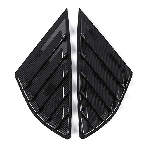 Exterior Accessories Body Armor - Car Rear Quarter Panel Side Vent Window Louvers Covers for Ford Fusion 4 Door - Carbon Pattern - 2 X Side Vent Window Covers 1 X Roll of Double Side Tape