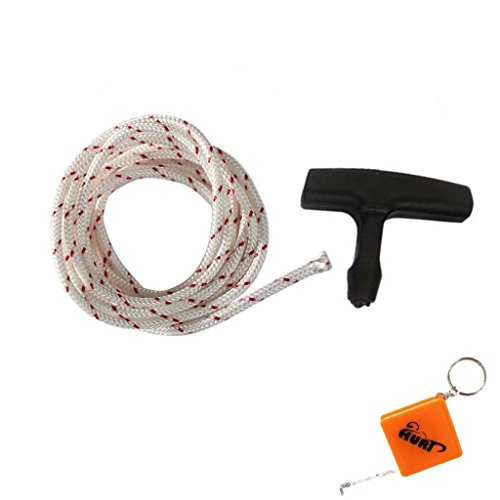 HURI 5 Meters 3.5mm Diameter Starter Rope with Starter Handle for Stihl Husqvarna Echo Homelite McCulloch Poulan Sears Chainsaws Weedeaters Trimmers Brush Cutters Edgers
