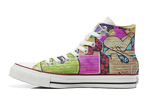 produit et Personnalisé artisanal Unisex Girl chaussures Hi Street Imprimés Star All coutume Italien Sneaker Converse Twx1tBvqT