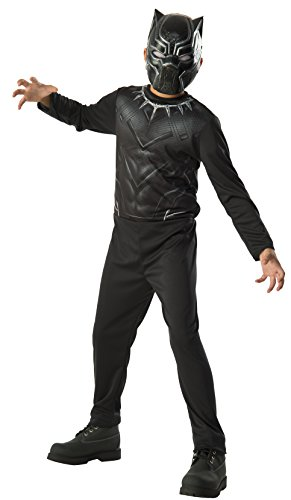 [Rubie's Costume Captain America 3: Civil War Black Panther Kids Value Costume, Large] (Black Panther Costume Marvel)