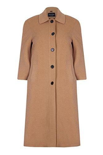 Cappotto Cappotto Cappotto Misto Cashmere Cashmere Cashmere da Lana in Cammello Invernale Barry David lungo Donna e A7n6pqn4