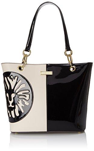 Anne Klein Double Trouble Tote Shoulder Bag BlackVanilla One Size