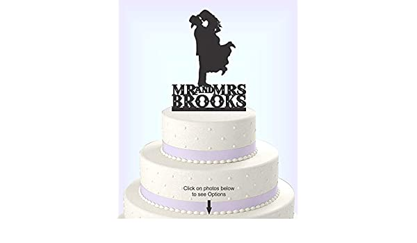 Cowboy Wedding Cake Topper Bride and Groom Topper Country Western Wedding Cake Topper CowBoy and CowGirl Mr /& Mrs Cake Topper
