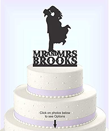 Enjoyable Country Western Wedding Cake Topper Silhouette Cowboy With Hat Funny Birthday Cards Online Barepcheapnameinfo
