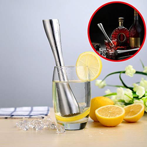 ️ Yu2d ❤️❤️ ️Fruit Stainless Steel Heavy Duty Cocktail Muddler Broken Ice Stick Lemon Cone]()
