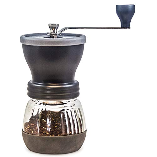 Khaw-Fee HG1B Manual Coffee Grinder with Conical Ceramic Burr – Because Hand Ground Coffee Beans Taste Best, Infinitely…