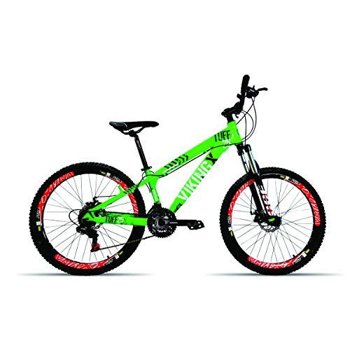 Bicicleta Aro 26 Vikingx Tuff 21 Velocidades Shimano Vmaxx Spinner (Verde Neon)